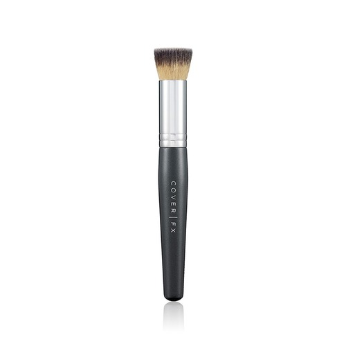 Closeup   liquid foundation brush
